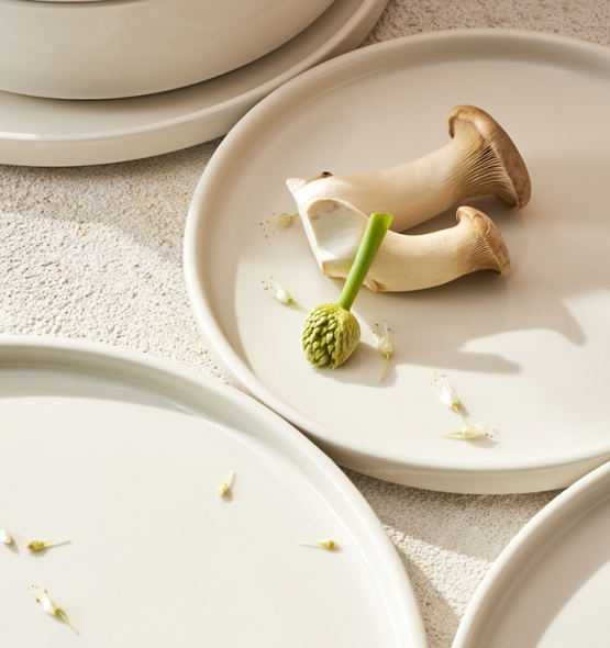A plate with mushrooms
